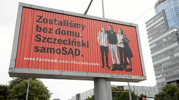 Billboard rodziny Adurowiczów na pl. Rodła