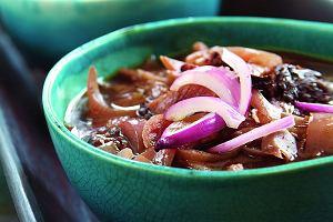 Zupa z cebuli czerwonej