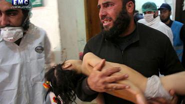 Ofiara ataku chemicznego w Syrii