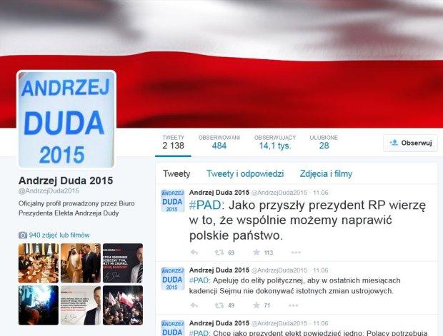 Prawicowy bloger prowadzi� twitterowe kampanijne konto Andrzeja Dudy