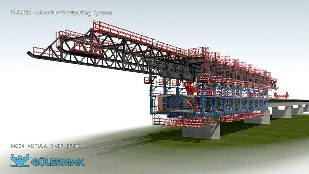 Maszyna MSS, która będzie budowała most między Wilanowem a Wawrem na południowej obwodnicy Warszawy