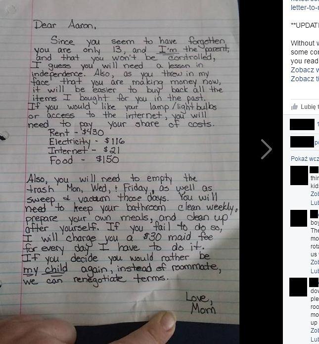 List Heidi do syna