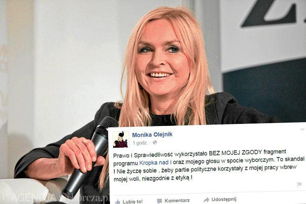 Monika Olejnik na Facebooku: Wykorzystali m�j g�os bez zgody