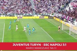 Serie A. Juventus - Napoli 3:1. Mario Mandzukić wyrównuje na 1:1 po podaniu Ronaldo [ELEVEN SPORTS]
