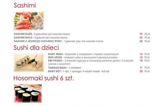 Menu Moshi Moshi Sushi