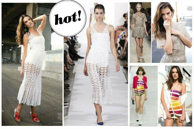 Z�ota mini z metk� Valentino, a�urowa sukienka od Oscara De La Renty, a mo�e kolorowy set Chanel? Czy Alessandra Ambrosio prezentuje si� korzystniej od modelek na wybiegu? [ZDJ�CIA]