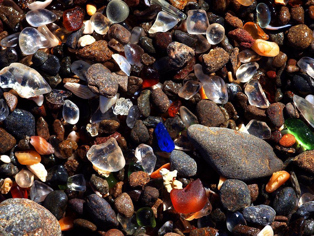 Glass Beach, Fort Bragg, Kalifornia
