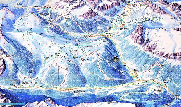 Mapa tras w Alta Badia