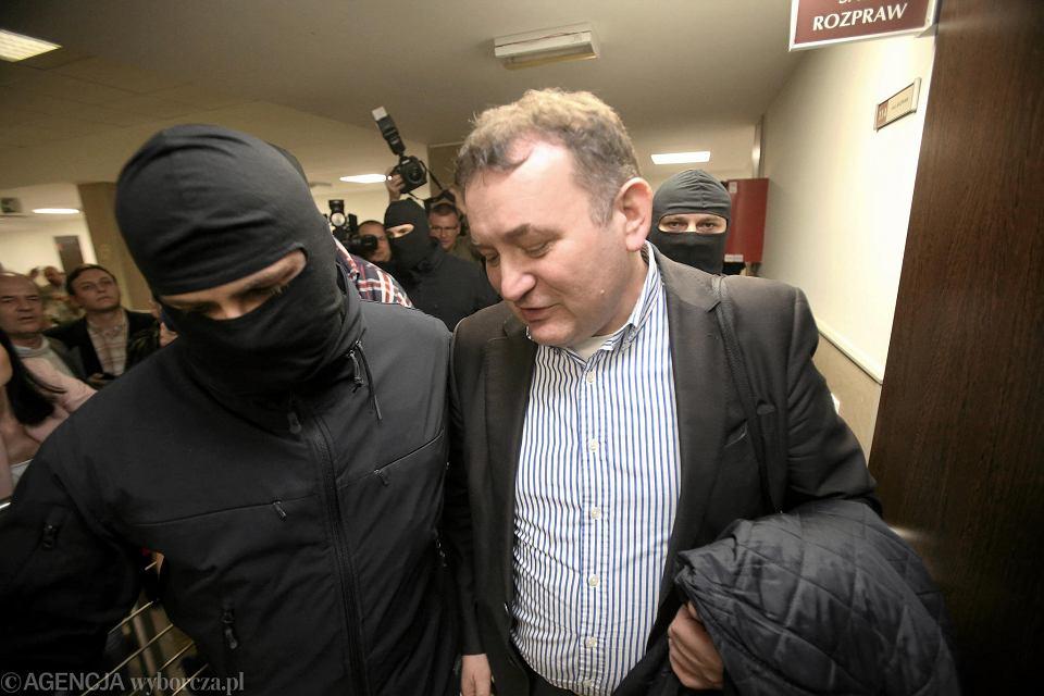 Stanisław Gawłowski podczas posiedzenia aresztowego sądu rejonowego.