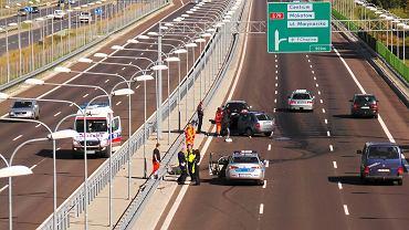 Pierwszy wypadek w dniu otwarcia Południowej Obwodnicy Warszawy