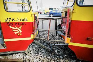 Wypadek tramwaj�w na ��dzkim rondzie Korfantego. 19 rannych