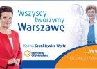 Gronkiewicz-Waltz zdradziła hasło wyborcze. Chwytliwe?