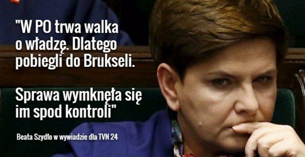 Beata Szyd�o o wprowadzeniu procedury monitorowania praworz�dno�ci w Polsce