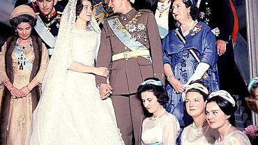 Ślub Juana Carlosa i Sophii von Schleswig-Holstein-Sönderborg, córki greckiej pary królewskiej: Paula I i Fryderyki de Hannover; 1962 r.