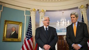 Witold Waszczykowski podczas spotkania z Johnem Kerrym w Waszyngotnie
