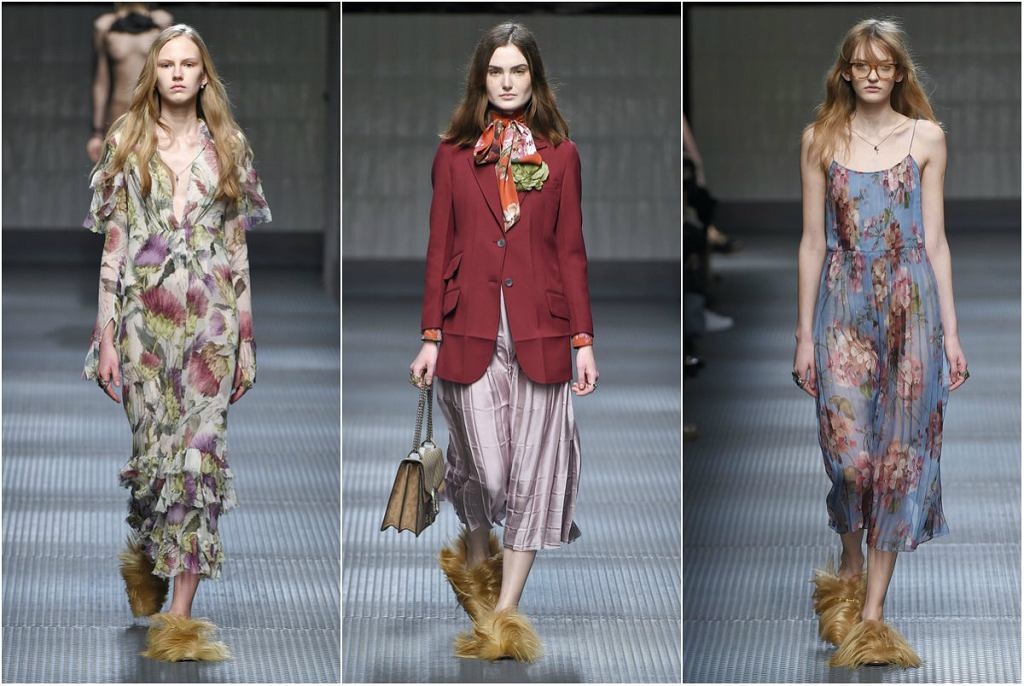 Luksusowe kapcie Gucci z kolekcji jesień/zima 2015