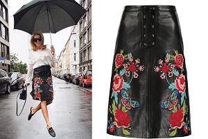 Ubierz się jak Jessica Mercedes: skórzana spódnica w jesiennych stylizacjach