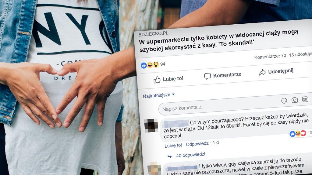 Ciężarne kobiety nie są przepuszczane w kolejkach w sklepach