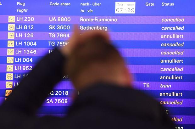 Strajkują piloci Lufthansy. Przez odwołane loty problemy także na polskich lotniskach