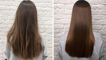 Keratynowe prostowanie włosów to metoda trwałego odżywiania włosów, której 'efektem ubocznym' jest ich wyprostowanie
