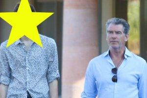 """Pierce Brosnan mierzy 188 cm, ale jego syn patrzy na niego z g�ry! """"Gdzie m�g� dosta� takie spodnie?"""""""