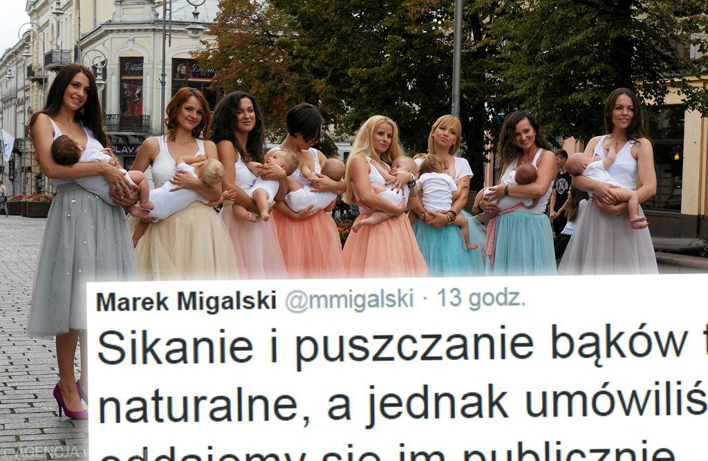 Marek Migalski o publicznym karmieniu piersią