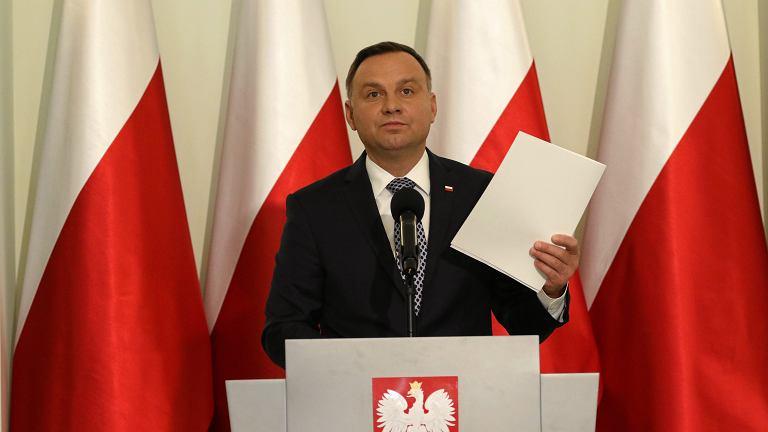 Oświadczenie Prezydenta Dudy ws. reformy sądownictwa, 25.09.2017 Warszawa, Pałac Prezydencki
