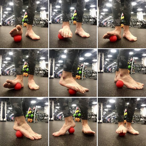 Trening biegacza. Mobilizacja podeszwy stopy za pomocą piłeczki