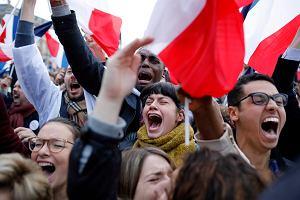 Wybory we Francji. To był TEN moment. Eksplozja radości! Nasz reporter wśród zwolenników Macrona