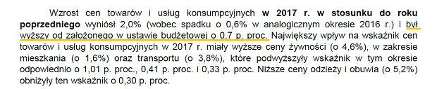 Inflacja a założenia budżetowe
