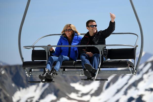 Emmanuel Macron z żoną Brigitte Macron