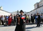Katastrofa smoleńska - piąta rocznica. Obchody na Powązkach, Krakowskim Przedmieściu. Polska delegacja na lotnisku w Smoleńsku