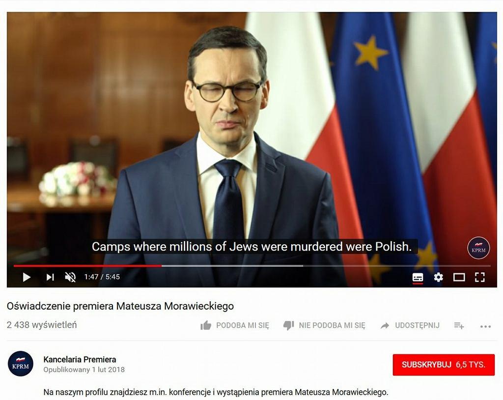 Orędzie premiera Mateusza Morawieckiego z błędami w napisach