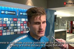 Emir Dilaver, strzelec gola dla Lecha Poznań o meczu z Pogonią Szczecin