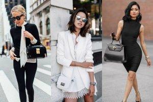 Elegancka biel, granat i czerń w stylizacjach