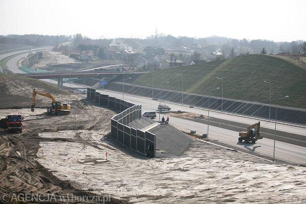 Mszana, budowa autostrady A1