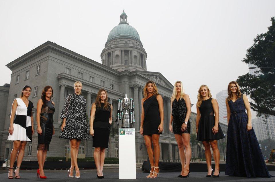 Zdjęcie numer 0 w galerii - WTA Finals. Radwańska promienieje, ale Szarapowa też wygląda świetnie! [ZDJĘCIA]