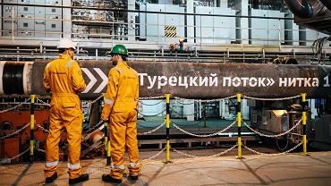 Pierwsza nitka czarnomorskiego gazociągu Turkish Stream z Rosji do Turcji.
