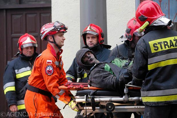 Pożar w katowickim centrum handlowym. 150 osób ewakuowanych