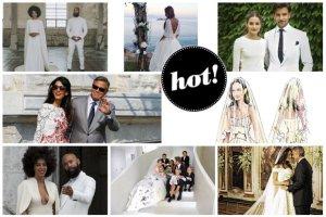 Stylowe śluby 2014 roku: Olivia Palermo w uroczej stylizacji, odsłonięte plecy Sary Mannei, ostatni projekt Oscara de la Renty, piękna wybranka George'a Clooneya, malowany welon Angeliny oraz Beyonce i Jay-Z na liście gości [PODSUMOWANIE]
