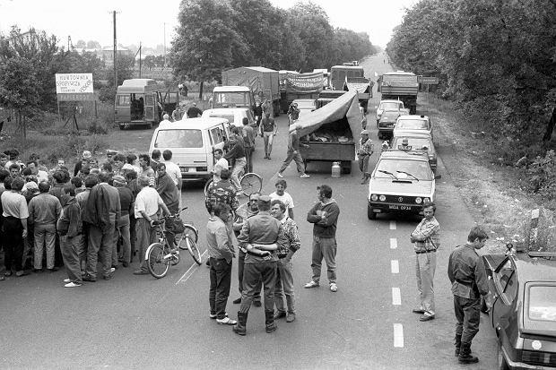 6 lipca 1992 r.  Blokada Samoobrony pod Błoniem