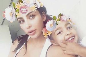 Kim Kardashian z córką North West