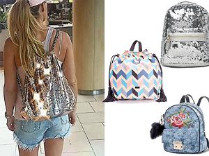 Kolaż, plecaki/Materiały partnera/www.instagram.com/m_rozenek/