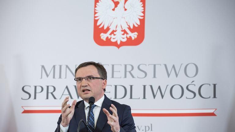 =Konferencja prasowa ministra sprawiedliwosci Zbigniewa Ziobry