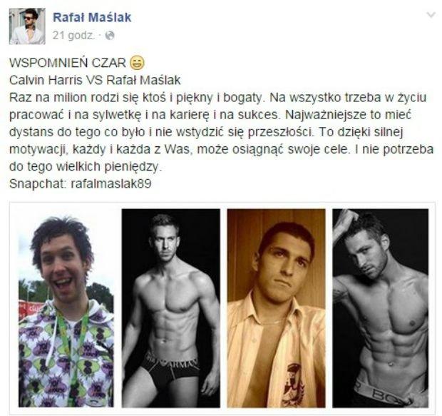 Wpis z Facebooka Rafała Maślaka