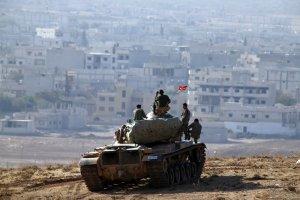 Turecka armia ostrzela�a odbite przez Kurd�w lotnisko pod Aleppo