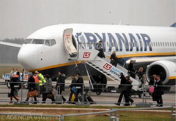 Samolot Ryanair w Modlinie