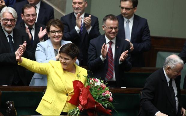 Beata Szydło po głosowania ws. konstruktywnego wniosku o nieufności dla rządu