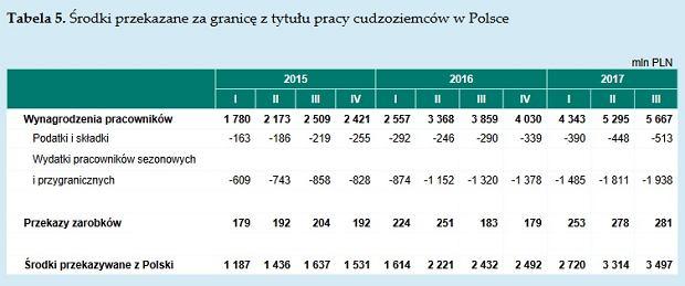 Ile pieniędzy wysyłają za granicę cudzoziemcy pracujący w Polsce