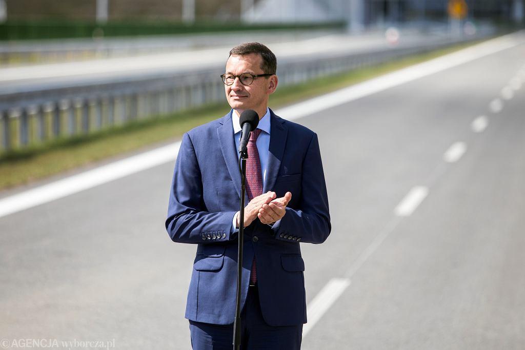 21.08.2018, Puławy, premier Mateusz Morawiecki otwiera obwodnicę Puław wchodzącą w skład drogi ekspresowej S12.